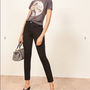 Reformation Black non stretch jeans